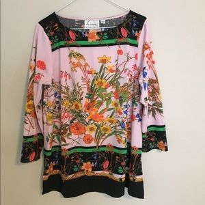 Linea Floral Tunic Top